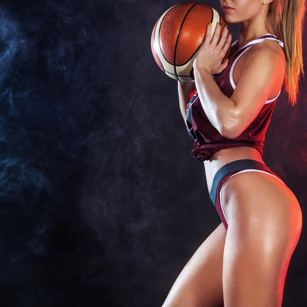 Stripper with Basketball